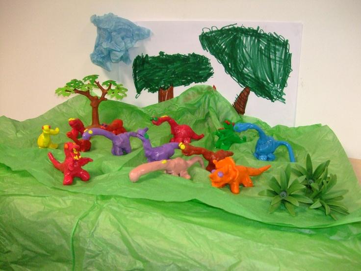maqueta de dinosaurios