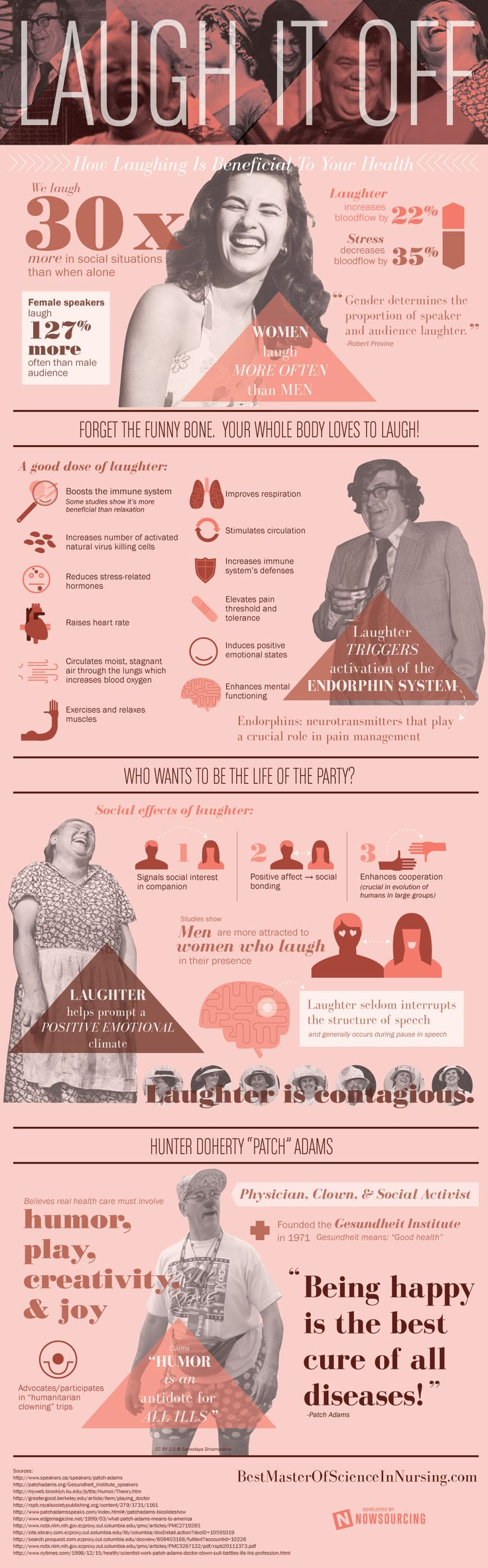 How And Why Laughing Is Beneficial To Our Health #infographic #Health #Laughing