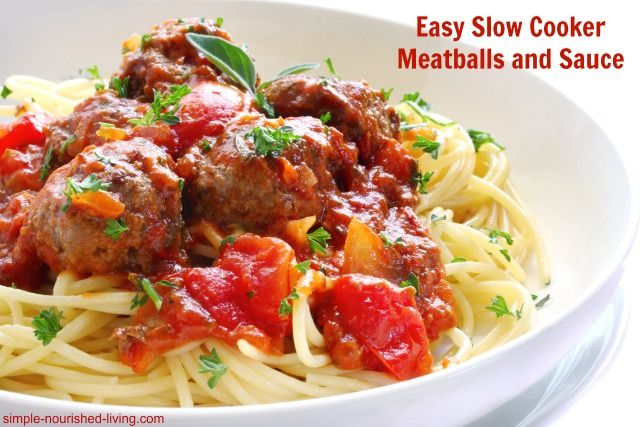 Easy Slow Cooker Meatballs and Sauce with Point Plus #WeightWatchers #CrockPot