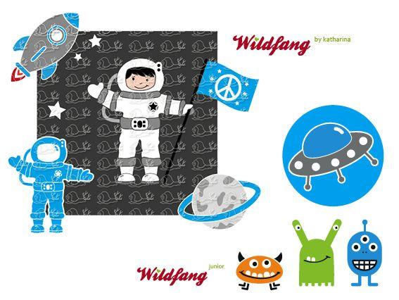Weiteres - Astronaut Andy - Plotterdatei - ein Designerstück von wildfang-by-katharina bei DaWanda