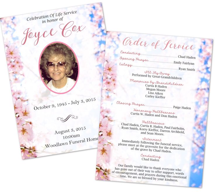 54 best Deerly Designed images on Pinterest Funeral memorial - 35 printable obituary