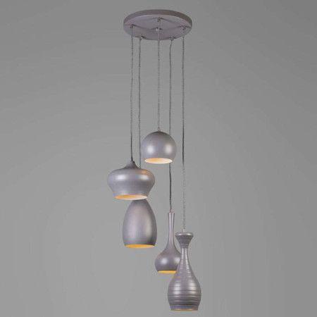Hanglamp Drops 5 grijs - Lampenlicht.be