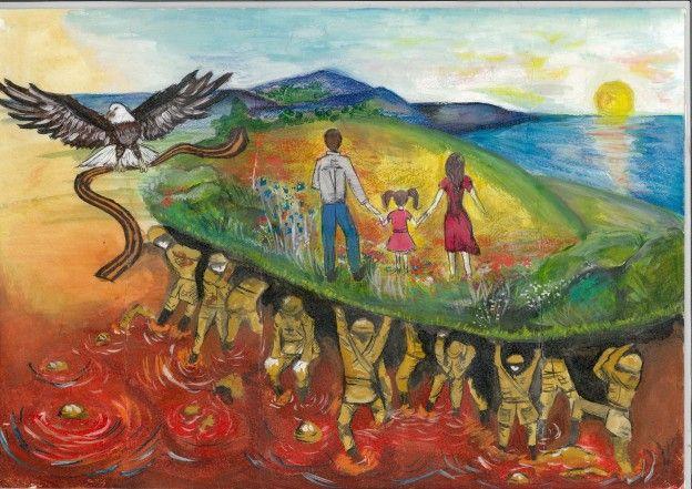 Выставка детского рисунка «История Великой Победы в истории семьи» в Государственной Думе — Диалог на русском