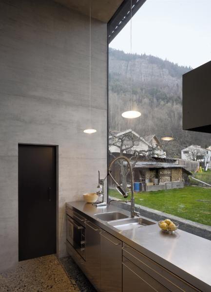 stainless steel maids' kitchen