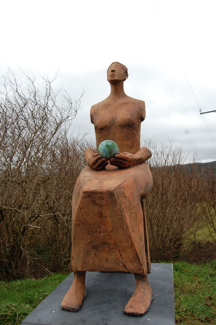 "Sculpture in garden "" Mother Earth "" by Christy Keeney"