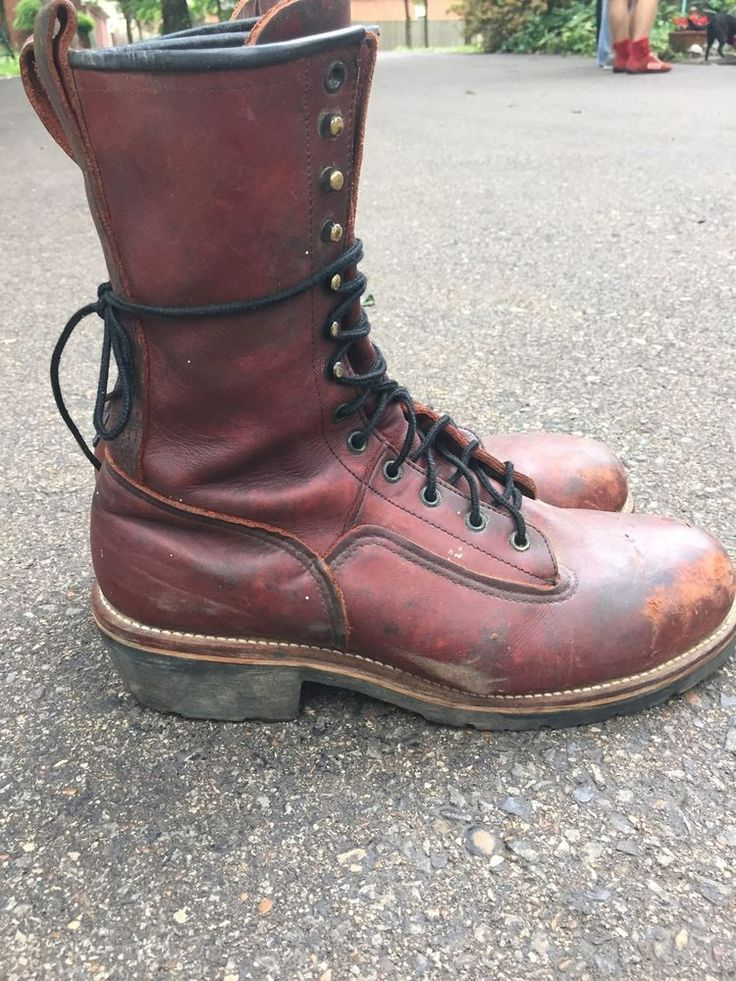 Mens Red Wing Usa Logger Lineman Climber Boots Steel Toe