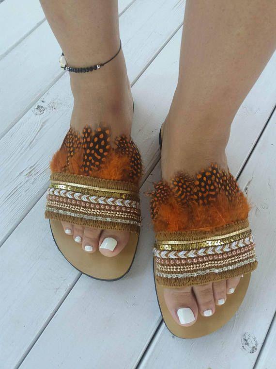 Bohemian sandals Eriphili' Greek leather sandals
