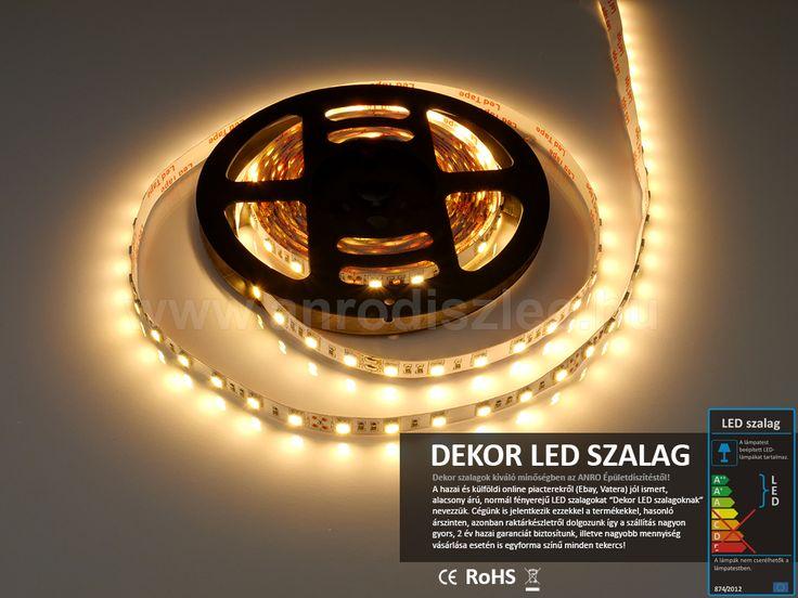 60 darab melegfehér SMD 5050 LED van ezen a LED szalagon, amelynek különlegessége, hogy 24V DC feszültségről működik, így akár kamionban vagy lakókocsiban is használható: http://www.anrodiszlec.hu/product_info.php/products_id/11338