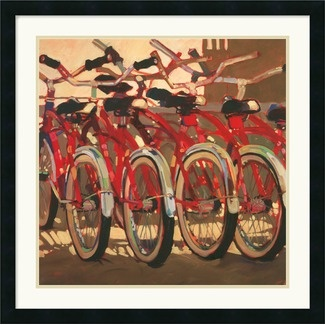 Amanti Art Retro Bikes Framed Art Print by Darrell Hill - DSW142819: Darrell Hill, Art Prints, Canvas, Framed Art, Retro Bikes, Bike Art, Beach Cruiser, Products, Bicycle
