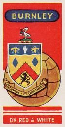 1958 Football Clubs and Badges #6 Burnley Front