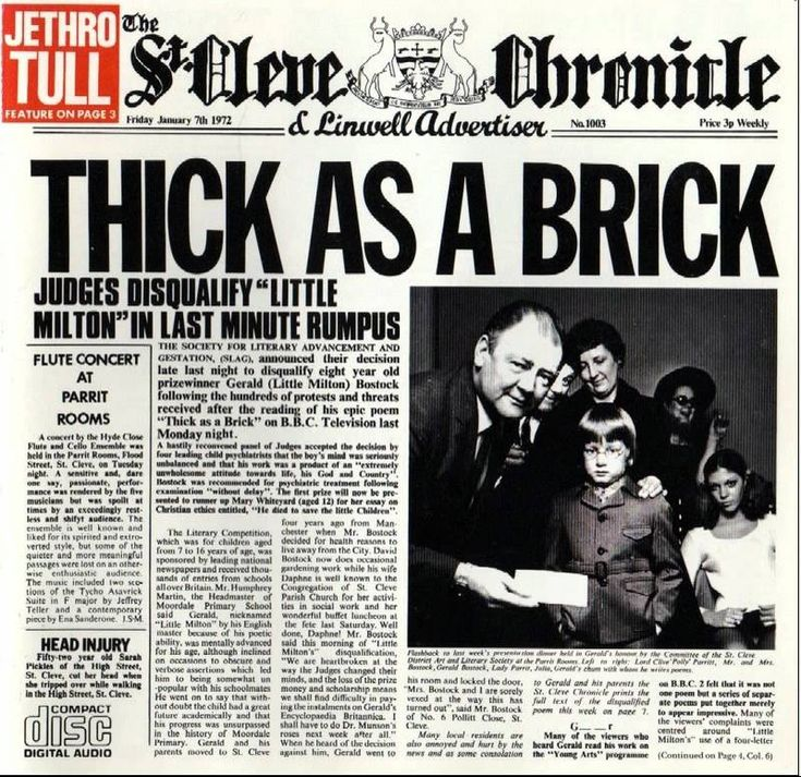 Jethro Tull - Thick as a Brick full