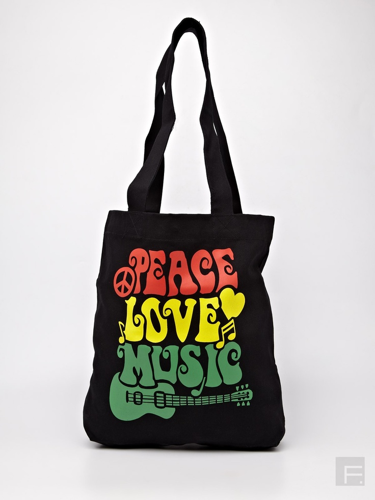 Be for Bag // Peace, Love And Music Print Tote