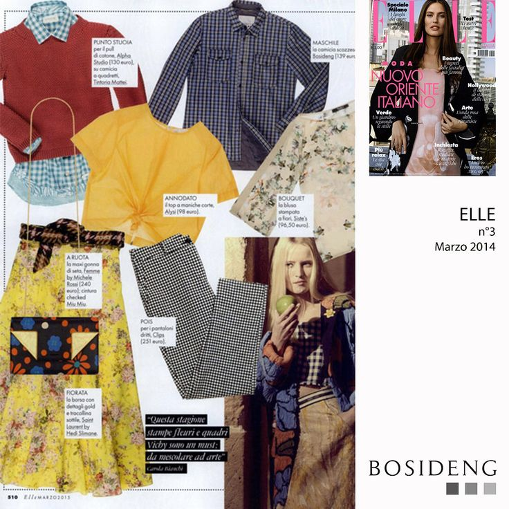 #Press // this month my tartan #SS15 shirt, in an #editorial on ELLE magazine!