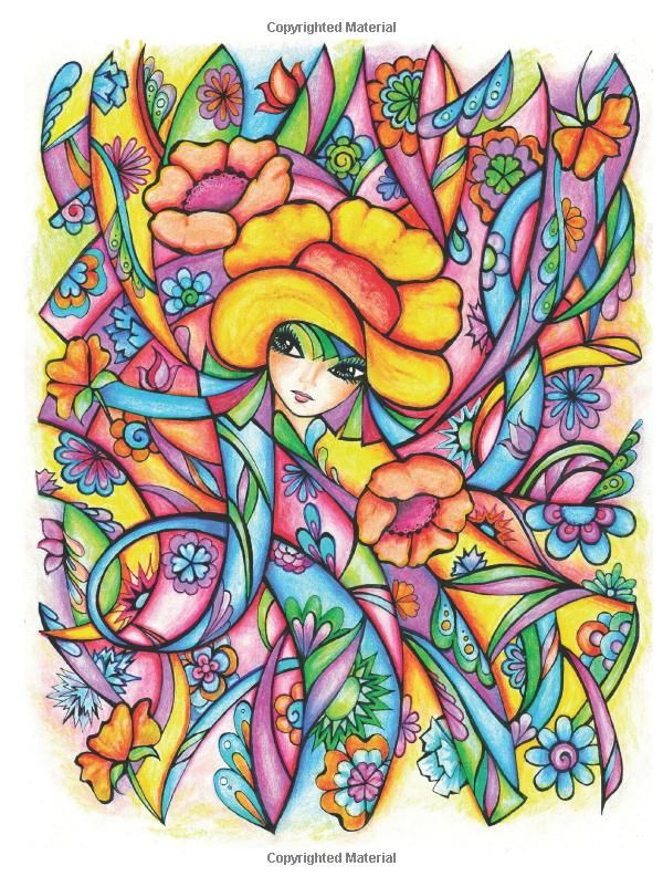 creative haven fanciful faces coloring book creative haven coloring books miryam adatto colour