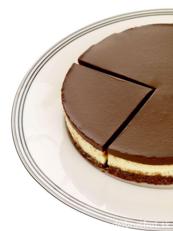 Dvojfarebný čokoládový cheesecake