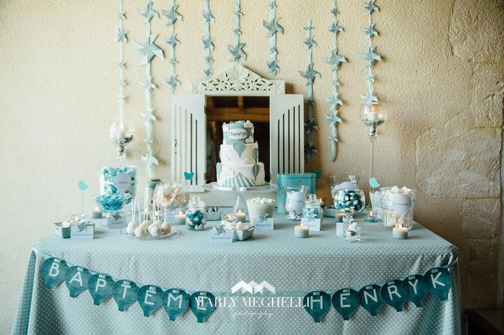 Le candy bar kit anniversaire d coration sweet table for Decoration table bapteme