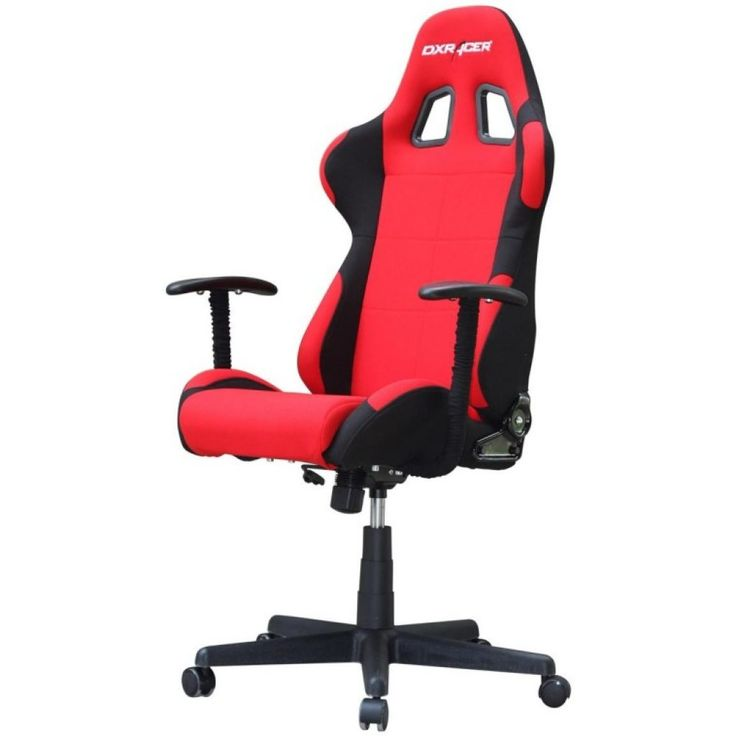 Awesome Red Upholstered Gaming Chair With Adjustable Arms With Comfortable Computer Chairs For Gaming And Gaming Pc Chair