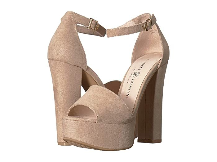 Chinese Laundry Avenue 2 Beige Microsuede High Heels Make A