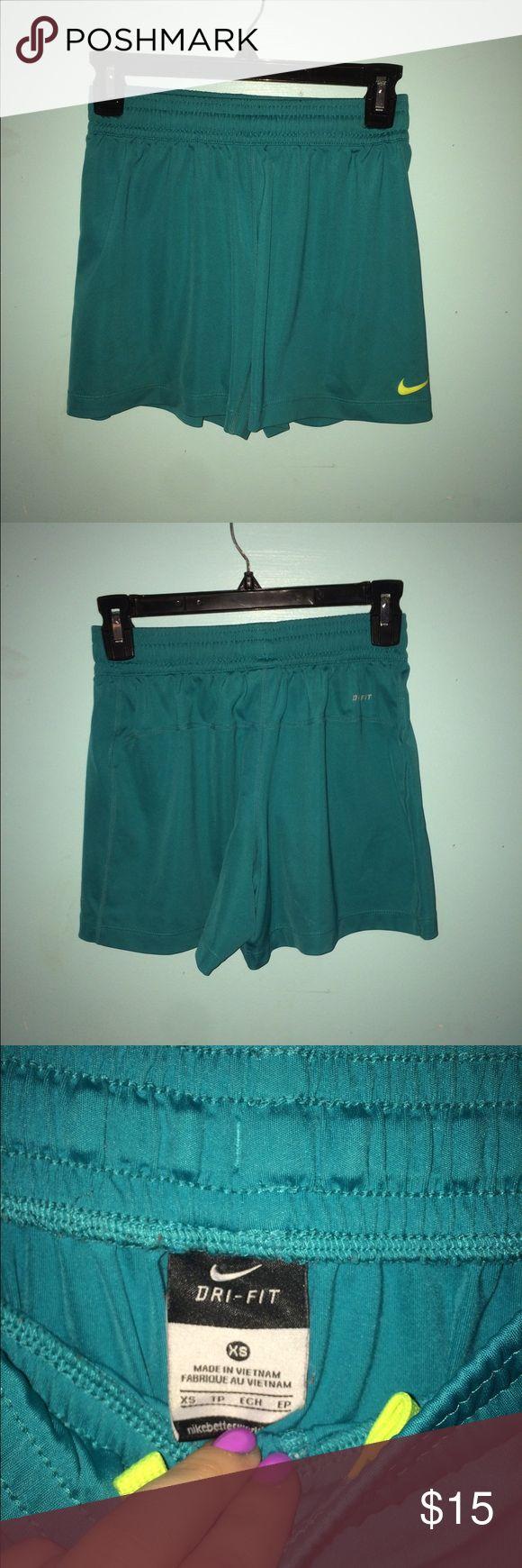 Nike soccer shorts Teal Nike shorts perfect for soccer. Nike Shorts