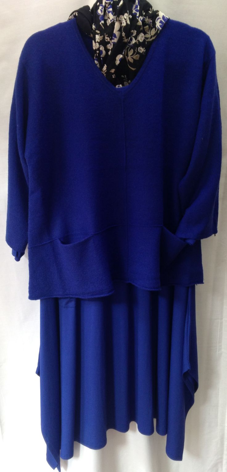 Great layering with Masai dress, sweater and scarf.  Fabulous colour.
