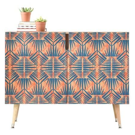 Zoe Wodarz Hot Tropic Storage Cabinet Blues Credenza DENY Designs : Target