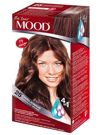 » N 25 CHOKLADBRUN Permanent hårfärg med det unika komplexet multitechnology – ett 4 in 1-system som färgar, tvättar, skyddar och vårdar ditt hår, för naturlig färg och glans. Täcker grått hår upp till 100%.  Mustig brun färg med röda toner. Ljust hår blir brunt med röda toner. Mörkt hår blir mörkare brunt och grått hår blir brunt med röda toner.