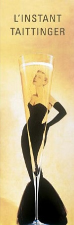 L'Instant Taittinger (Grace Kelly Champagne Ad) Poster