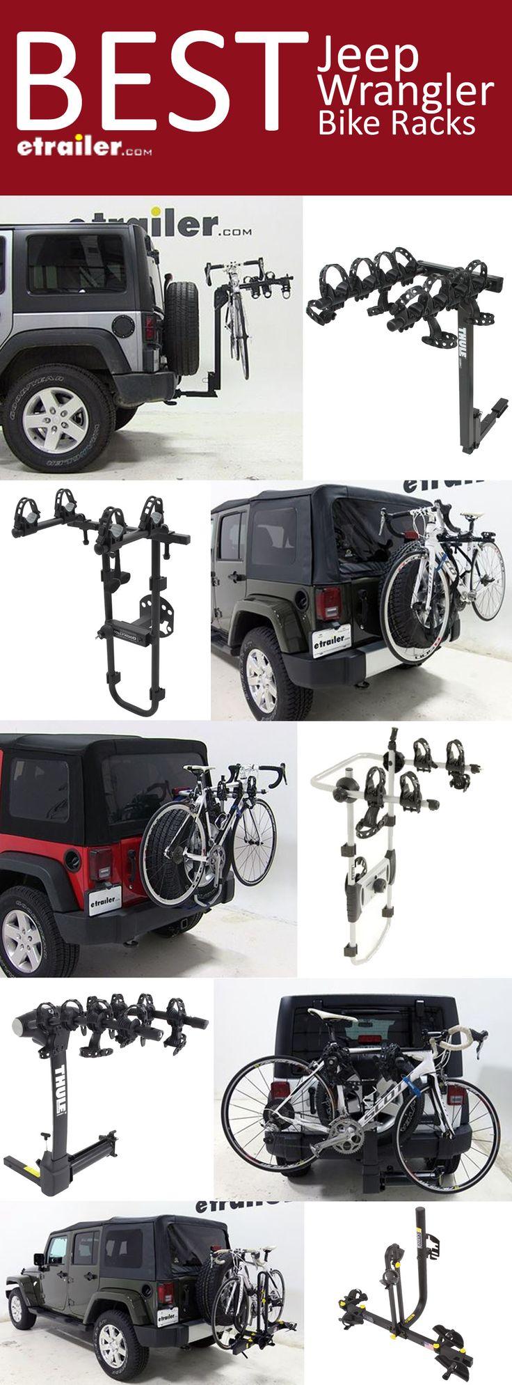 Here is the complete list of the Best Jeep Wrangler Bike Racks. Find the perfect fit bike rack to tilt, swing, fold, provide anti-sway, 2-bike carrier, 3-bike carrier, 4-bike carrier, platform bike rack, spare tire mount bike rack and hitch mounted bike rack.