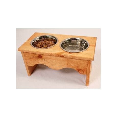 Comedero personalizado de madera
