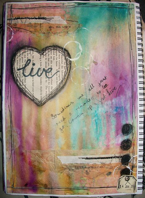 art journal page by Litabells....love love the color blend on this....wow