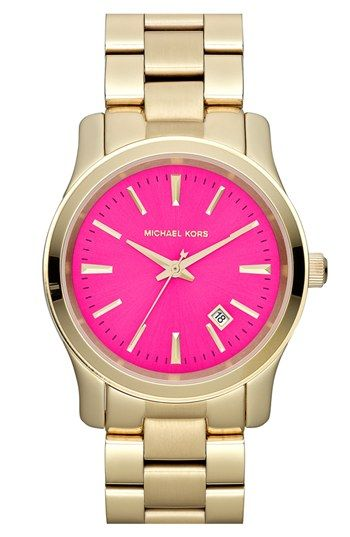 MK watch.... pink + gold!