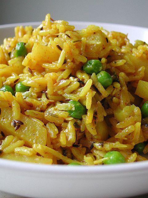 Indian Rice and Potatoes - fantastic!  Goes great with Tandoori chicken or Tikka Masala