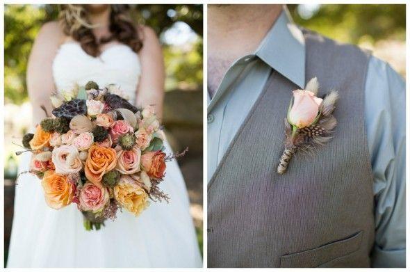 Coral & Salmon Wedding Color Inspiration - Rustic Wedding Chic