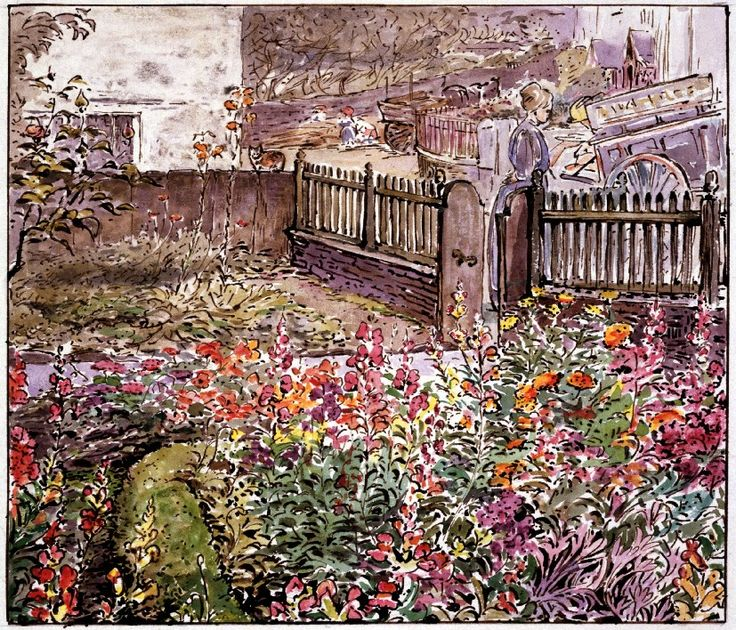Garden in Sawrey 1905 by Beatrix Potter: Place as Inspiration - Victoria and Albert Museum