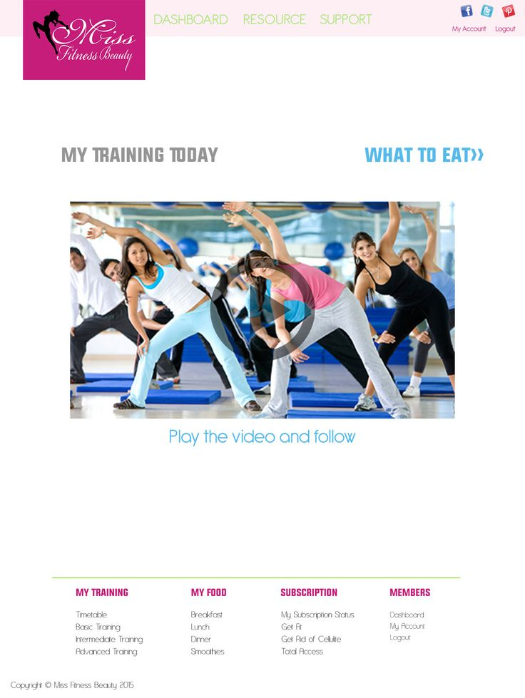 MFB training page - layout
