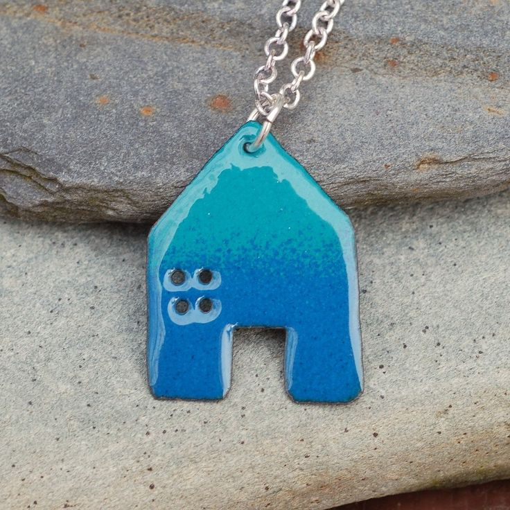 Hand Crafted Enamel House Necklace Pendant Copper Home: 1000+ Images About Enamel Jewelry On Pinterest