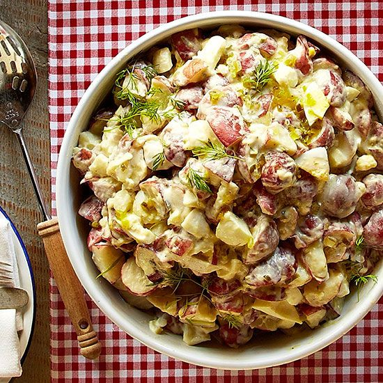 Potato Salad is a summertime classic for a reason! Get our favorite recipe here: http://www.bhg.com/recipes/from-better-homes-and-gardens/july-2013-recipes/?socsrc=bhgpin070614potatosalad&page=2