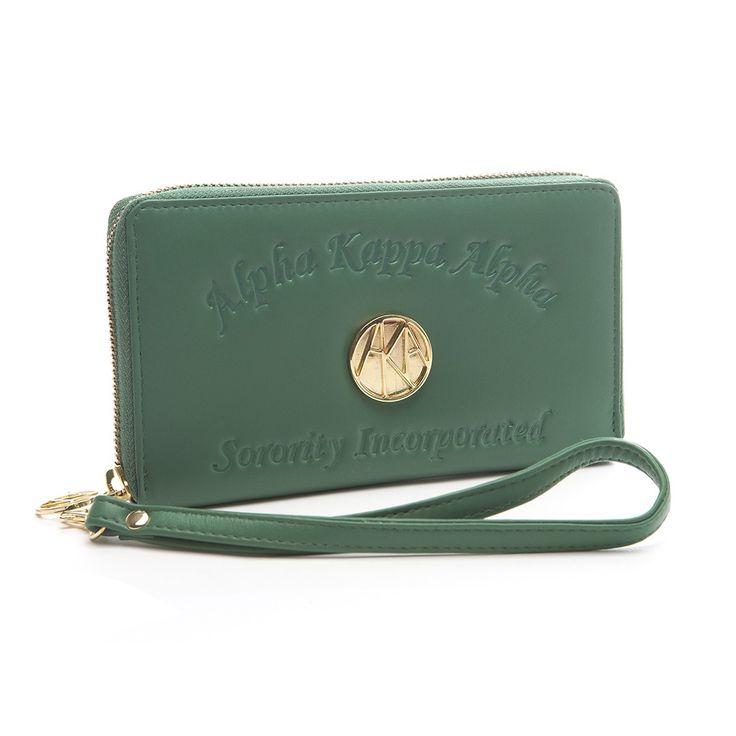 Ladies Embossed Soft Leather Wallet – Alpha Kappa Alpha | GREEK GALLERY