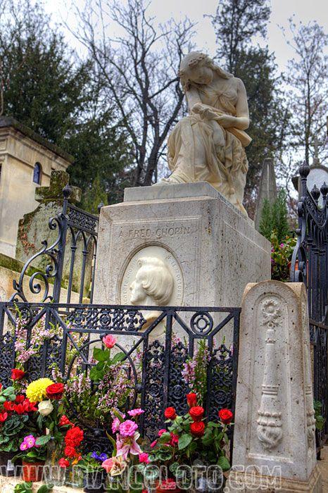 Париж, Кладбище Пер-Лашез У могилы Фредерика Шопена