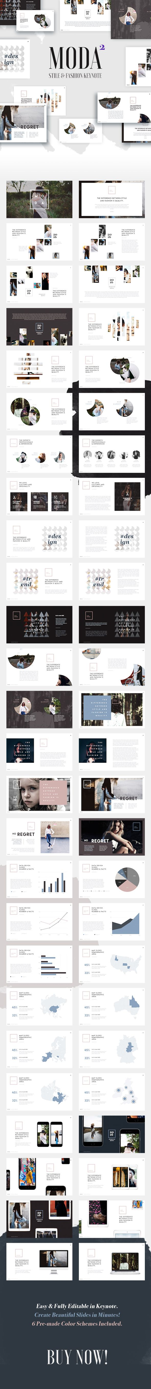 Moda 2  Fashion & Style Keynote Template  #1920x1080 #clean • Download ➝ https://graphicriver.net/item/moda-2-fashion-style-keynote-template/18346922?ref=pxcr