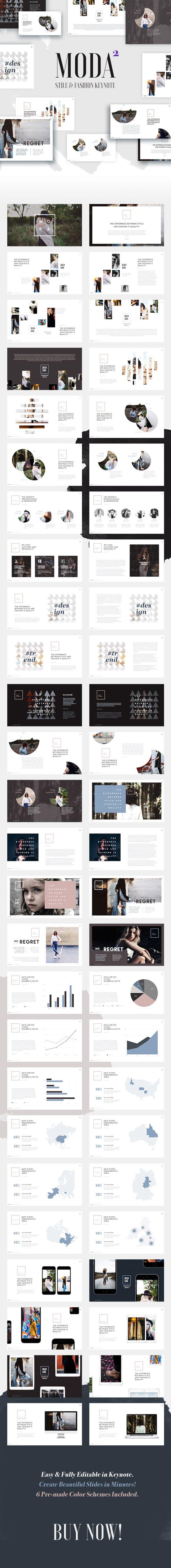 Moda 2  Fashion & Style Keynote Template  #1920x1080 #clean • Download ➝ https://graphicriver.net/item/moda-2-fashion-style-keynote-template/18346922?ref=pxcr