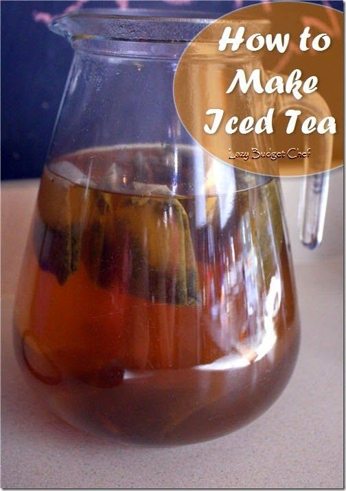 How to make sweet and unsweetened iced tea from tea bags