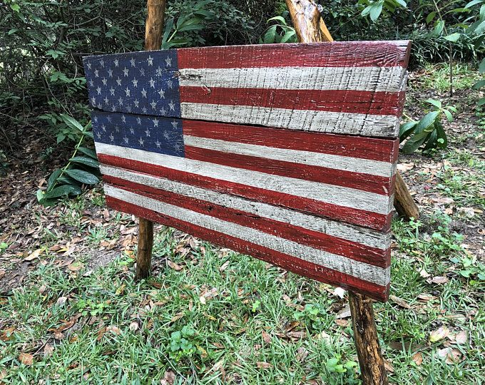 Large 19x36 Rustic Flag Wood American Flag Etsy In 2020 American Flag Wood Rustic Flags Wood Flag