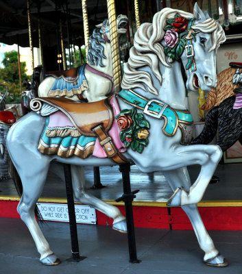 grey carousel horse