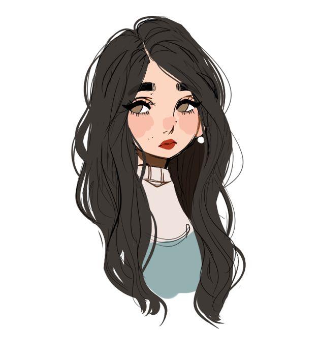 cute girl drawing