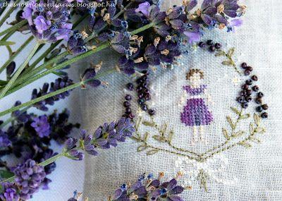 The Snowflower Diaries: Lavender Girl (2013) - cross stitch design