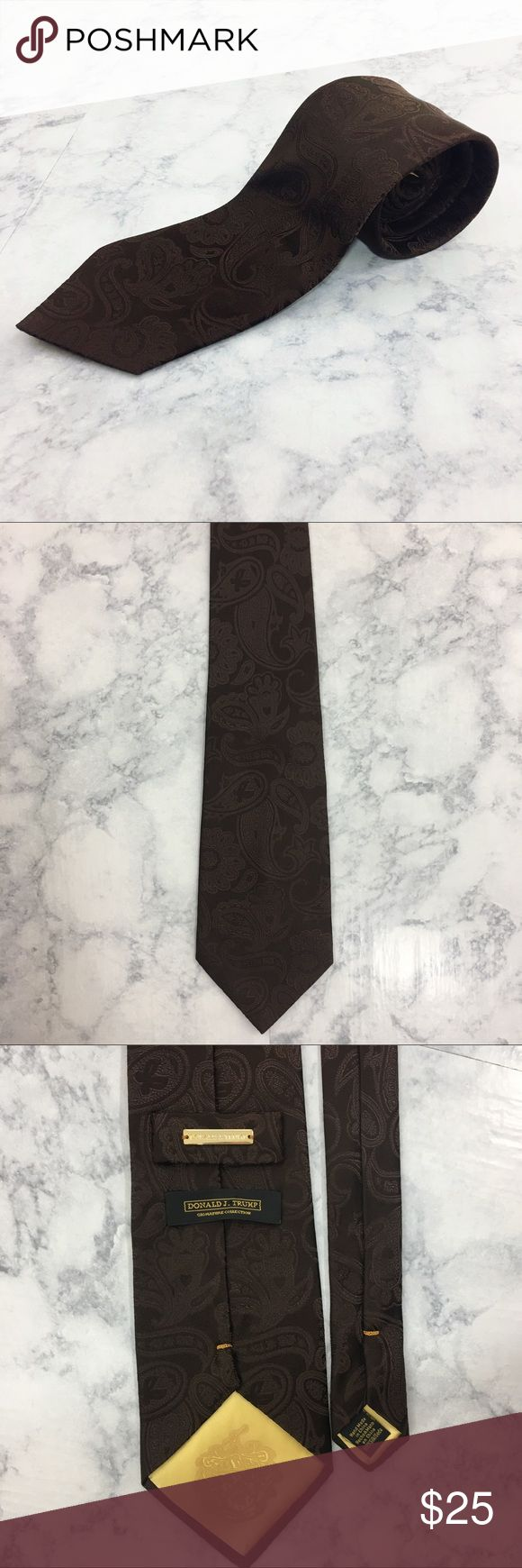 Donald Trump Signature Collection Tie Excellent used condition. Donald J. Trump Signiture Collection Silk Brown Tie. Paisley design. Donald J. Trump Accessories Ties