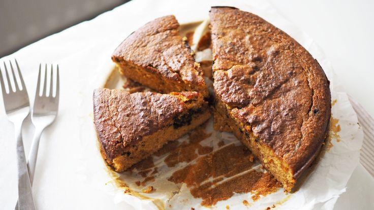 Paleo Pompoen-Kokos cake (met chocolate chips)