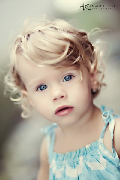 child client with amazing eyes