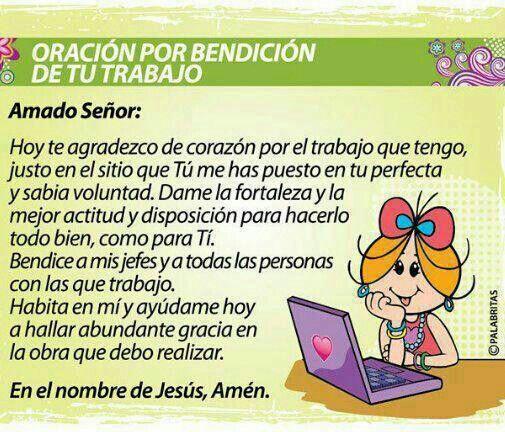 Oracion para el trabajo